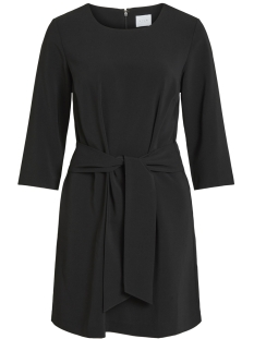Vila Jurk VINATHALIA TIE BAND DRESS 14052648 Black