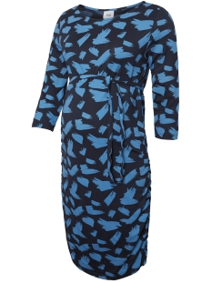 Mama-Licious Positie jurk MLANNAMONE 3/4 JERSEY ABK DRESS A. 20009511 Navy Blazer/CENDRE BLUE