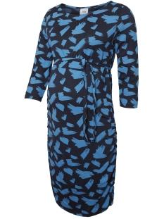 mlannamone 3/4 jersey abk dress a. 20009511 mama-licious positie jurk navy blazer/cendre blue