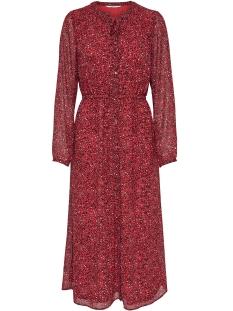 Only Jurk onlSTAR LS MAXI CHIFFON DRESS WVN 15173850 Flame Scarlet/STAR LEO