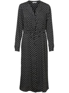 pcerika ls medi dress d2d 17097223 pieces jurk black/dot