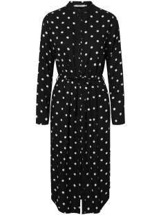 Pieces Jurk PCMARLIN LS LONG DRESS D2D 17097678 Black/BWHI DOTS