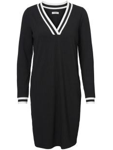 pcshey ls midi dress 17095027 pieces jurk black/rib black