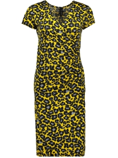 IZ NAIZ Jurk DRESS LEOPARD 3220 YELLOW