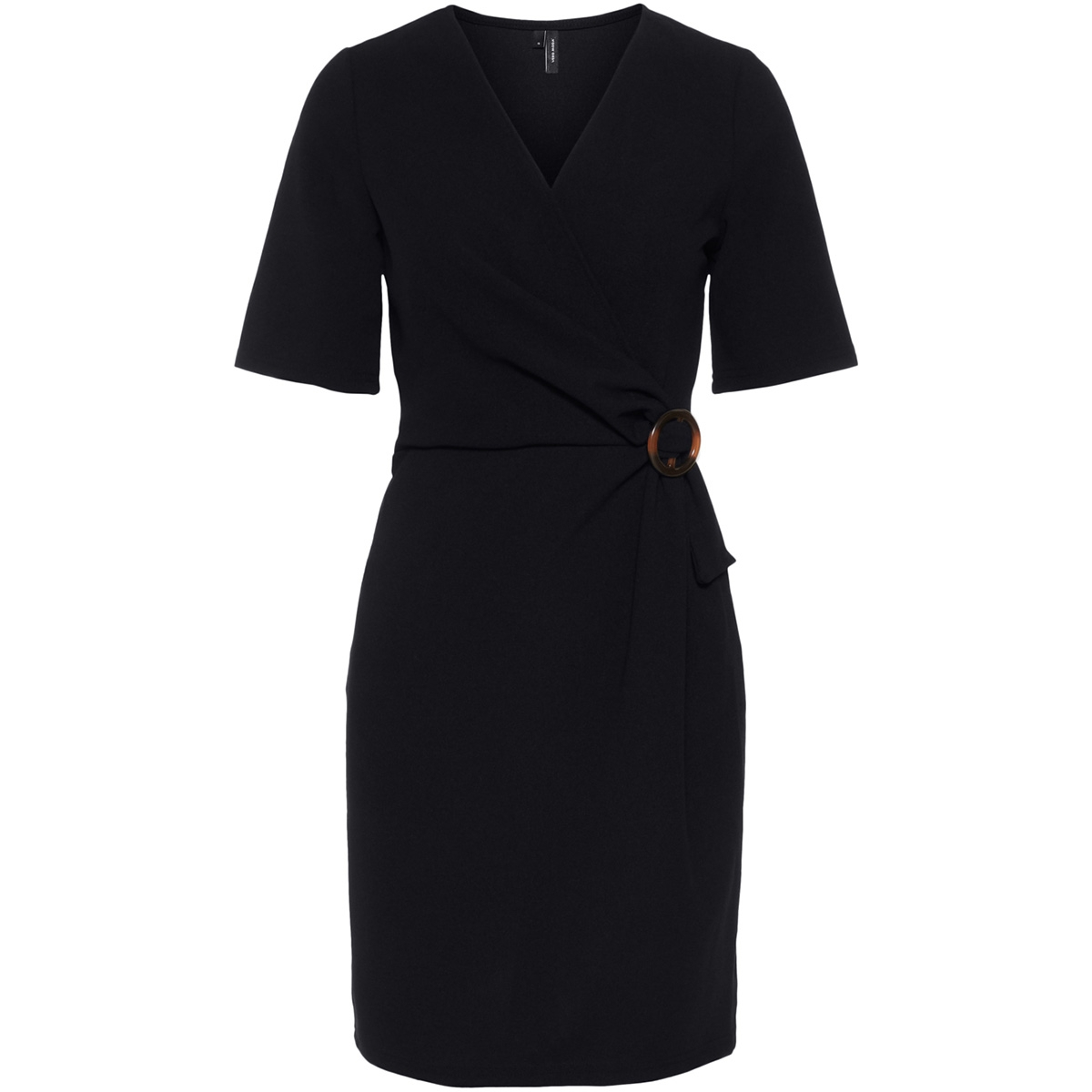 vmisa 2/4 sleeve dress sb3 10216685 vero moda jurk black