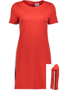 Only Jurk ONLBRILLIANT S/S DRESS JRS 15182840 High Risk Red/BAND IN