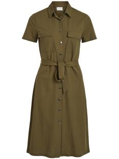 Vila Jurk VISAFINA S/S SHIRT DRESS TB/KI 14051364 Dark Olive
