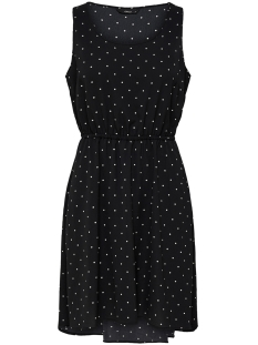 onlflora sl dress wvn 15177397 only jurk black/small cloud