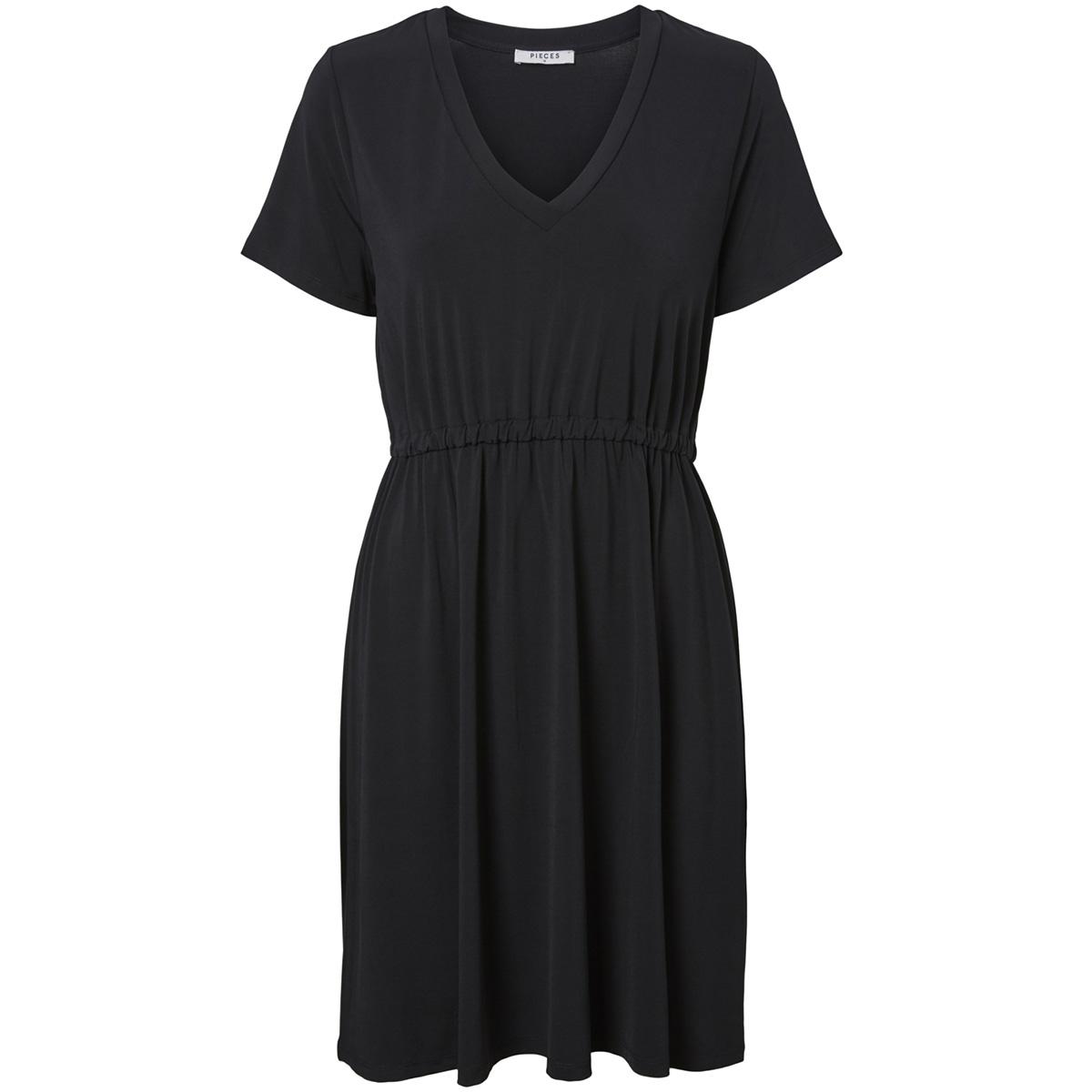 pccath ss solid dress 17097513 pieces jurk black