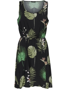 Only Jurk ONLFLORA SL DRESS WVN 15177397 Black/OPEN LEAF