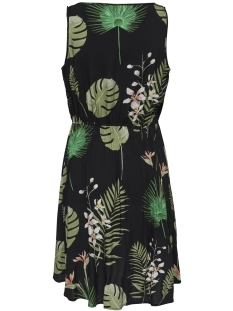 onlflora sl dress wvn 15177397 only jurk black/open leaf
