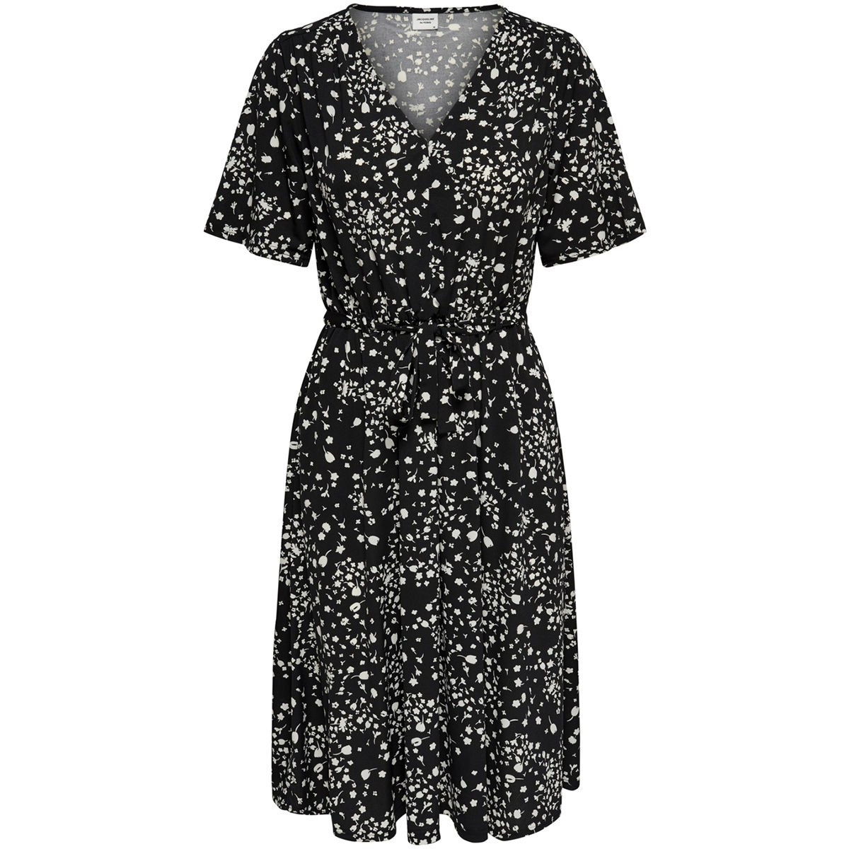 jdythea s/s dress jrs 15176806 jacqueline de yong jurk black/flower aop