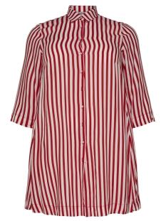 Only Carmakoma Jurk CARLUNA 3/4 SHIRT DRESS 15175483 High Risk Red/HIGH RISK
