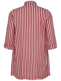 carluna 3/4 shirt dress 15175483 only carmakoma jurk high risk red/high risk