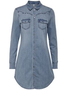 onlwekey fit ls dnm dress bj13117 15170039 only jurk light blue denim
