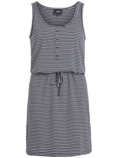 Object Jurk OBJSTEPHANIE S/L SHORT DRESS NOOS 23028608 Sky Captain/WITH WHITE