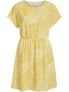 vilaia s/s dress-fav nx 14052753 vila jurk goldfinch/iberis