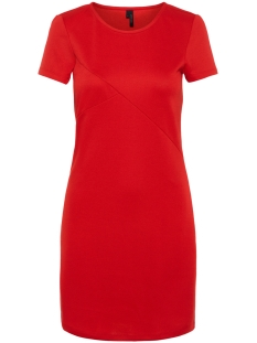 Vero Moda Jurk VMVIGGA SLIM SHORT DRESS COLOR 10212965 Chinese Red