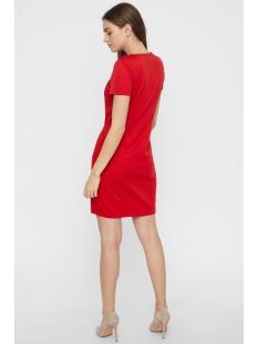 vmvigga slim short dress color 10212965 vero moda jurk chinese red