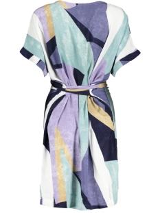 grafische jurk met striksluiting 23001507 sandwich jurk 50072