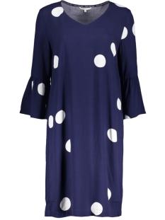 polka dot jurk met trompet mouwen 23001525 sandwich jurk 40151