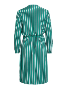 vilinetta stripie l/s dress 14051737 vila jurk pepper green/navy blazer