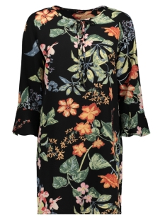 Only Jurk ONLNOVA LUX TIE  DRESS AOP 4 WVN 15172752 Black/TROPICAL FLOWERS
