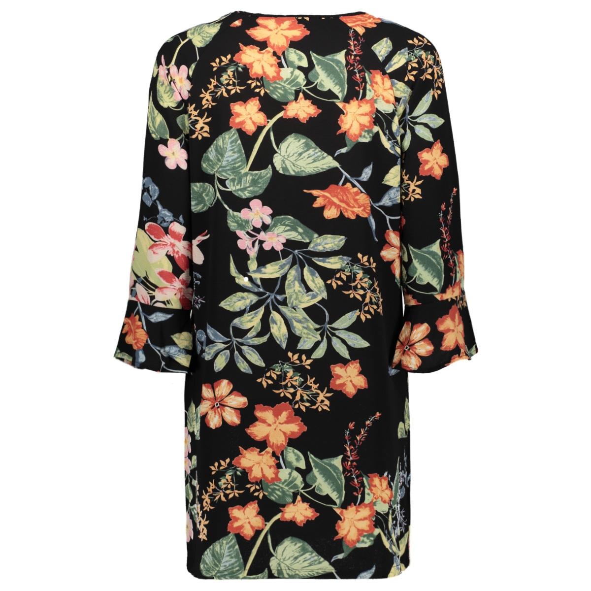 onlnova lux tie  dress aop 4 wvn 15172752 only jurk black/tropical flowers