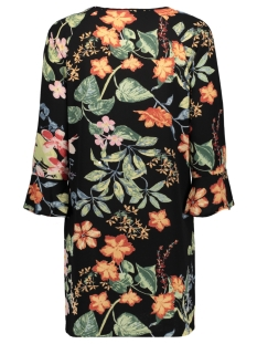 onlnova lux tie  dress aop 4 wvn 15172752 only jurk black/tropical flowers