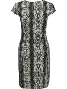 nmconda s/s v-neck below knee dress 27007736 noisy may jurk ivy green