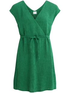 vichunny s/l dress 14051370 vila jurk pepper green
