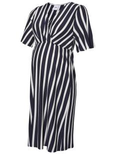 Mama-Licious Positie jurk MLBECKY 2/4 JERSEY ABK DRESS 20009648 Navy Blazer/Y/D SNOW W