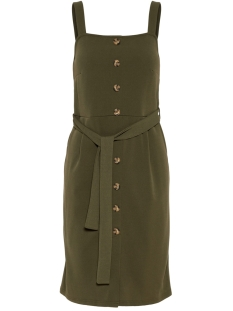 vmmille sl button blk dress jrs 10212952 vero moda jurk ivy green