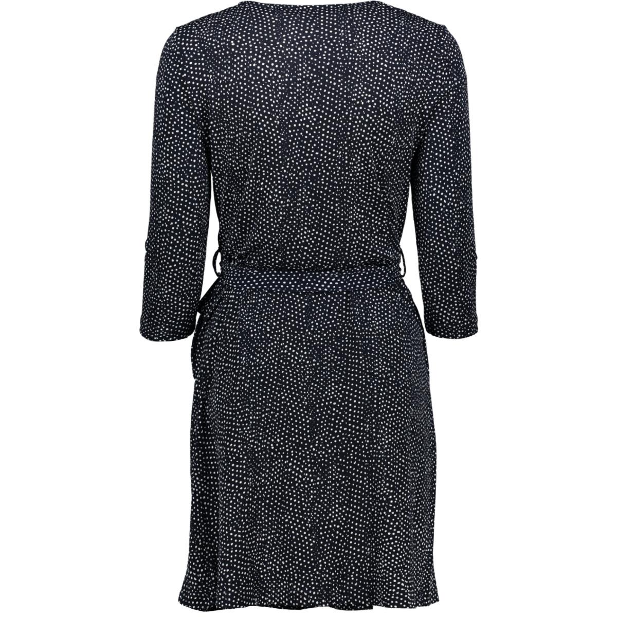 vmtia 3/4 short dress jrs 10212582 vero moda jurk night sky/snow white