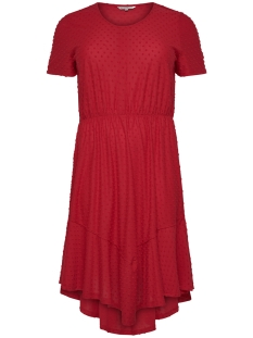 Only Carmakoma Jurk CARDIDDE SS DRESS BLK 15176962 High Risk Red