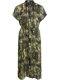 Object Jurk OBJPALM S/S MIDI DRESS 102 23028818 Elfin Yellow/ELFIN YELLOW