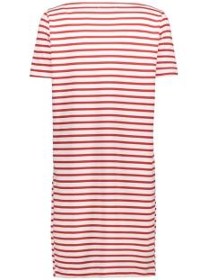 pcingrid ss dress noos 17089195 pieces jurk bright white/aura orange