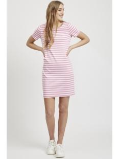 vitinny new s/s dress - noos 14032604 vila jurk brandied apricot/snow white