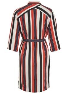objtess karen 3/4 shirt dress rep 23027228 object jurk black/poppy red