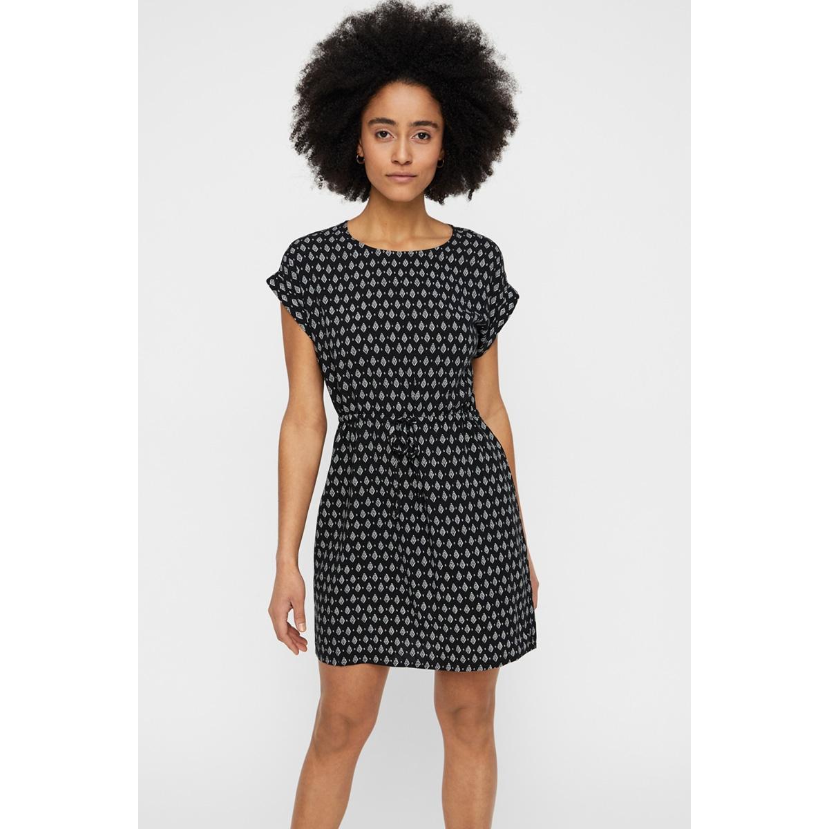 vmsimply easy ss short dress 10211514 vero moda jurk black/rebecca