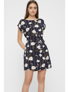 vmsimply easy ss short dress 10211514 vero moda jurk night sky/tuva