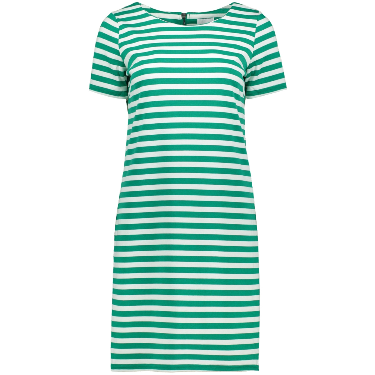 vitinny new s/s dress - fav 14044396 vila jurk pepper green/snow white
