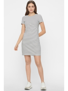 vmvigga slim short dress noos 10211525 vero moda jurk snow white/black