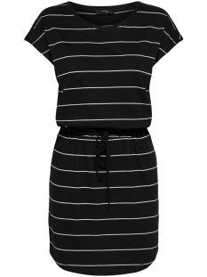 Only Jurk ONLMAY S/S DRESS NOOS 15153021 Black/THIN STRIPE