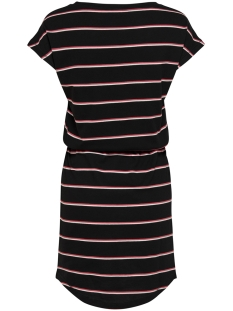 onlmay s/s dress noos 15153021 only jurk black/double ger
