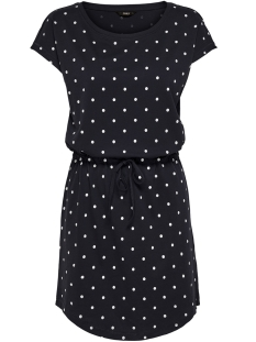 onlmay s/s dress noos 15153021 only jurk night sky/dots cloud dancer