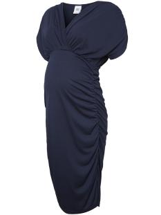 Mama-Licious Positie jurk MLPILAR S/S JERSEY ABK DRESS V. 20009753 Navy Blazer