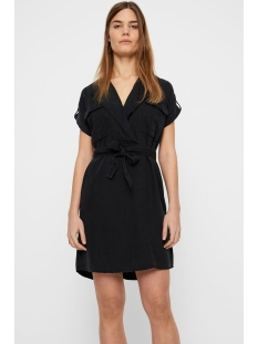 nmvera s/s endi tencel shirt dress 27005660 noisy may jurk black