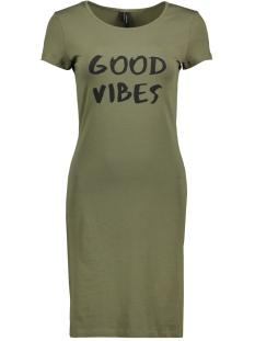 vmjacinta ss short dress color 10186368 vero moda jurk ivy green/ good vibes