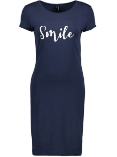 Vero Moda Jurk VMJACINTA SS SHORT DRESS COLOR 10186368 Navy blazer/ Smile